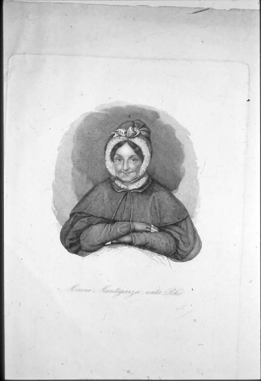 Ritratto di Maria Rhò in Mantegazza (stampa) di Beretta Giuseppe (sec. XIX)