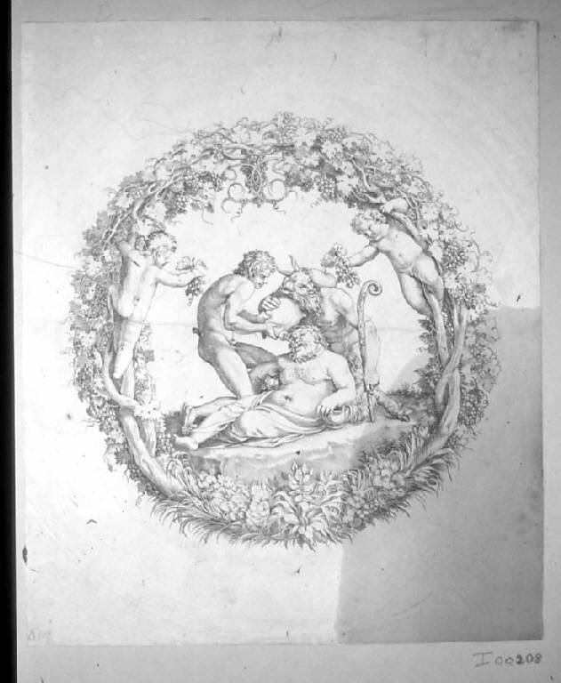 La tazza Farnese, Sileno ebbro (stampa) di Carracci Annibale, Carracci Annibale (sec. XVII)