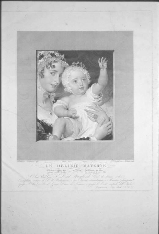 Allegoria dell'Amore materno (stampa) di Longhi Giuseppe, Lawrence Thomas (primo quarto sec. XIX)