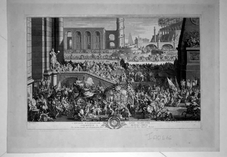 Ingresso trionfale di Alessandro Magno a Babilonia (stampa) di Chereau Francois II, Chereau Francois II (sec. XVII)