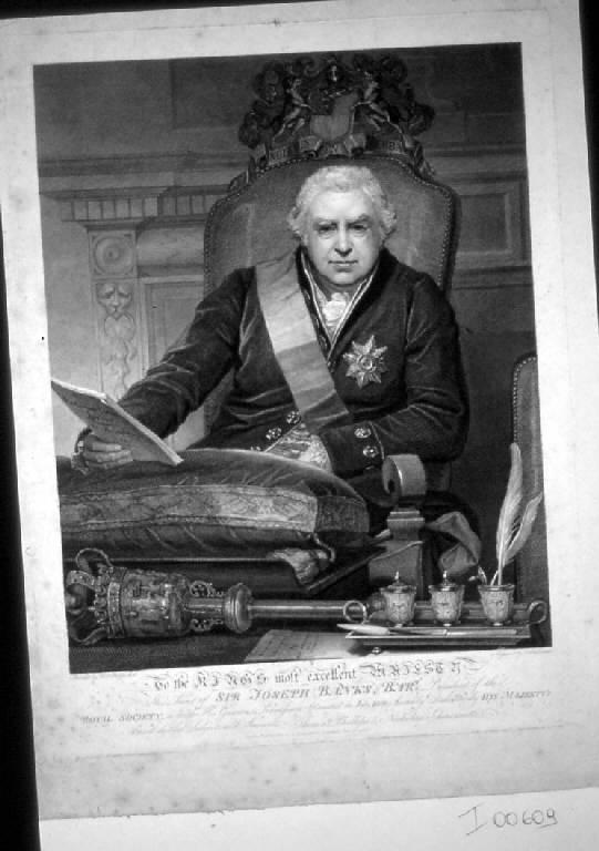 Ritratto di sir Joseph Banks, Ritratto di sir Joseph Banks (stampa) di Schiavonetti Niccolò, Phillips Thomas (sec. XIX)