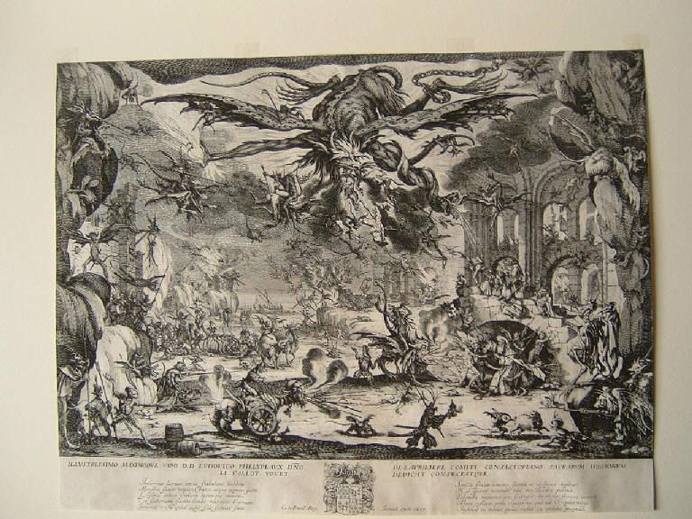 Tentazioni di sant'Antonio abate (stampa) di Callot Jacques, Callot Jacques (sec. XVII)