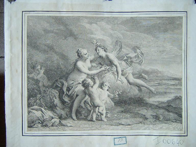 Amore e Psiche (stampa smarginata) - scuola italiana, scuola italiana (sec. XVIII)