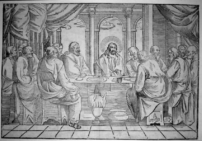 Ultima cena (stampa) di Monogrammista DW (sec. XVI)
