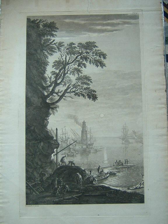 Marina (stampa) di Rosa Salvator - scuola italiana (sec. XVIII)