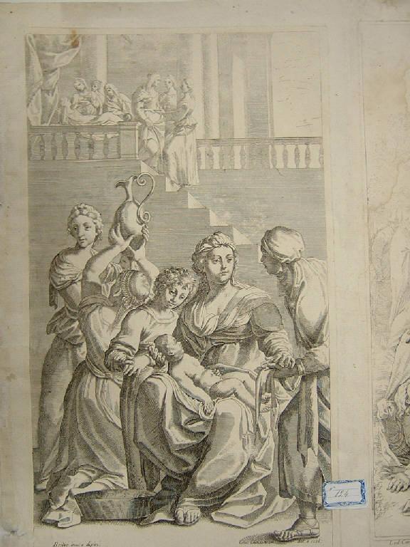 Nascita di san Benedetto, Nascita di san Benedetto (stampa, elemento d'insieme) di Giovannini Giacomo Maria, Brizio Francesco (sec. XVII)