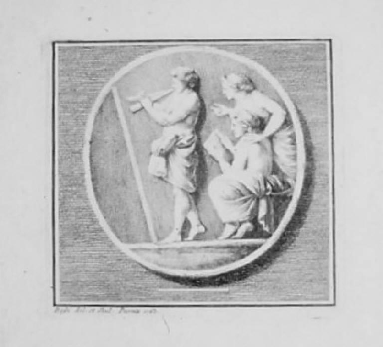 Allegoria della Musica (stampa) di Bossi Benigno, Bossi Benigno (sec. XVIII)