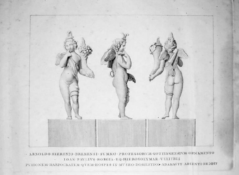 Arpocrate (stampa) - scuola italiana (prima metà sec. XIX)