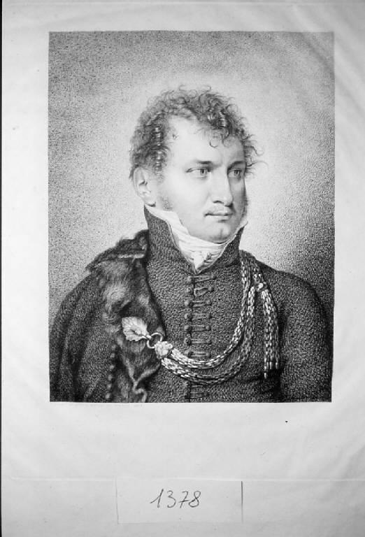 Ritratto del barone Bruder, Ritratto del barone Bruder (stampa) di Longhi Giuseppe, Longhi Giuseppe (sec. XIX)