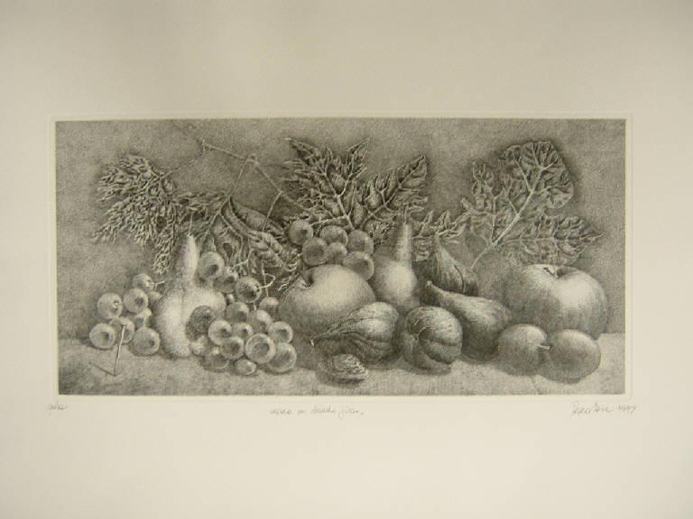 Natura morta (stampa) di Pescatori Carlo, Pescatori Carlo (sec. XX)