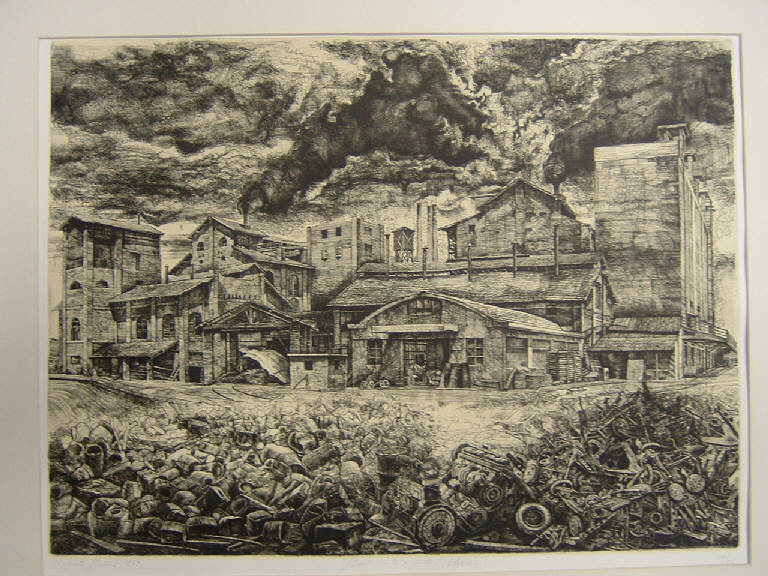 Veduta di Porto S. Elpidio (stampa) di Stelluti Roberto, Stelluti Roberto (sec. XX)