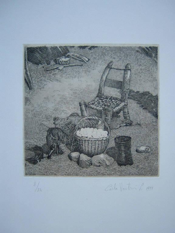 Il mercato di Axum, Galline (stampa) di Venturi Leoni Carla, Venturi Leoni Carla (sec. XX)