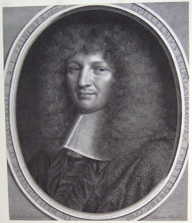Ritratto di Guglielmo Egon Furstenberg conte (stampa smarginata) di Nanteuil Robert, Nanteuil Robert (sec. XVII)