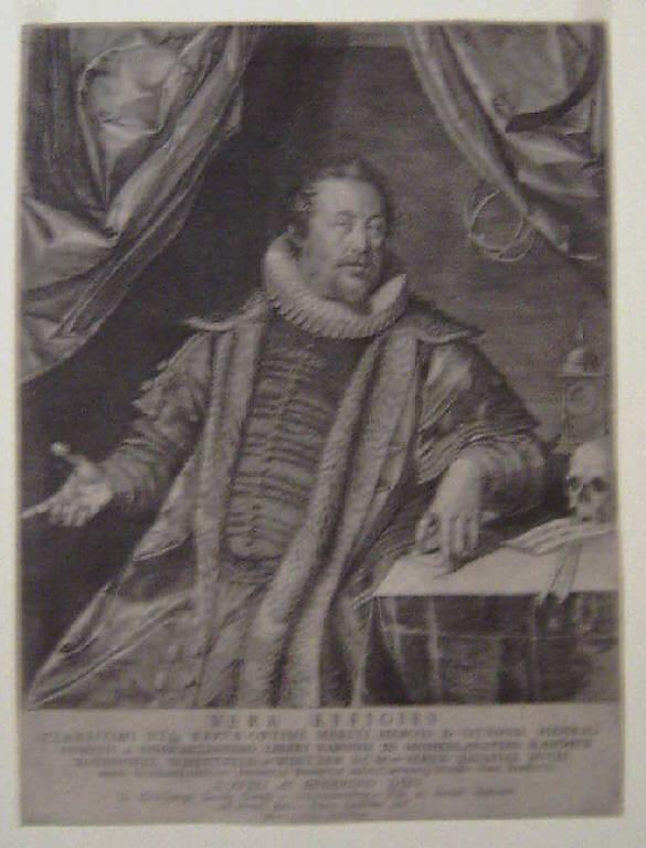 Ritratto di Ottone Enrico conte di Schwarzenberg (stampa smarginata) - scuola tedesca, scuola tedesca (sec. XVI)