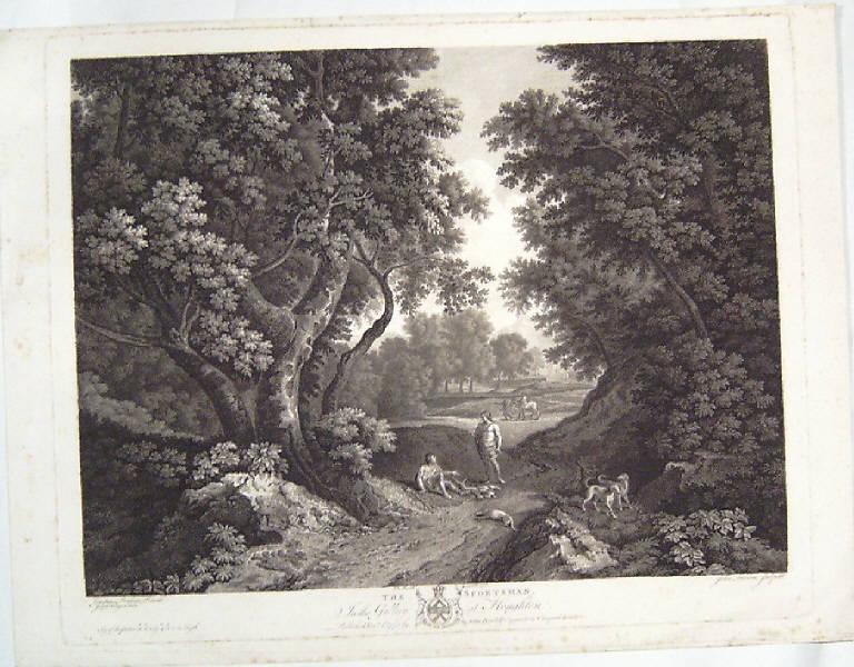 Paesaggio con figure (stampa) di Browne John, Farington Joseph, Dughet Gaspard (sec. XVIII)