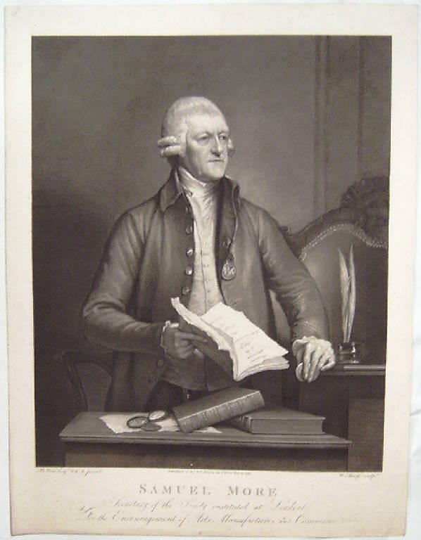 Ritratto di Samuel More (stampa smarginata) di Sharp William, West Benjamin (fine sec. XVIII)