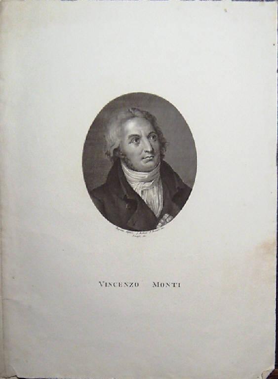 Ritratto di Vincenzo Monti (stampa smarginata) di Becceni Pietro, Appiani Andrea, Longhi Giuseppe (primo quarto sec. XIX)