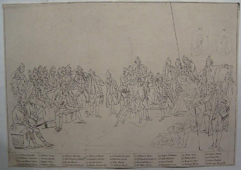 Ritratti di pittori inglesi del sec. XVIII (stampa smarginata) - scuola inglese (terzo quarto sec. XVIII)