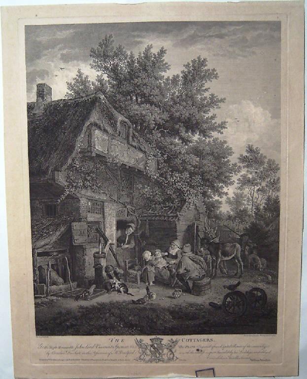 Contadini (stampa) di Browne John, Woollet William, Dusart Cornelis (terzo quarto sec. XVIII)