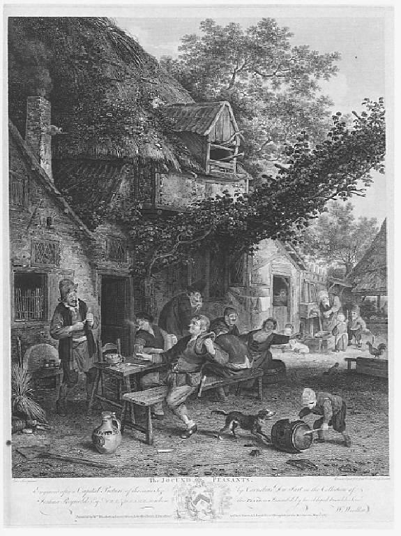 Contadini al desco (stampa) di Browne John, Woollet William, Dusart Cornelis (terzo quarto sec. XVIII)