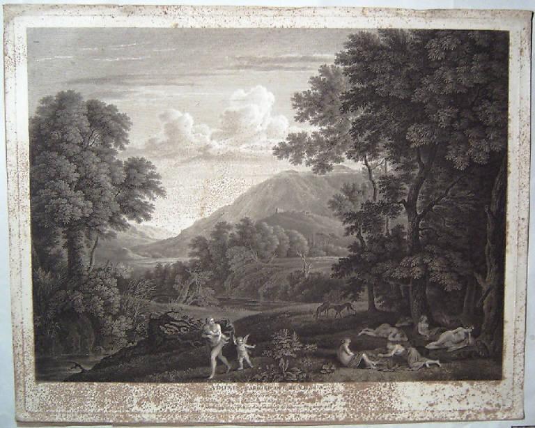 Venere e Adone (stampa) di Browne John, Swanevelt Herman van (fine sec. XVIII)