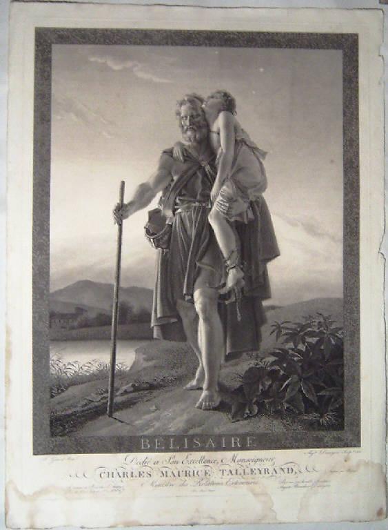 Belisario (stampa) di Desnoyers Auguste Gaspard Louis, Gerard Francois (inizio sec. XIX)