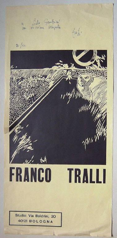 Paesaggio con civetta (stampa) di Tralli Franco, Tralli Franco (fine sec. XX)