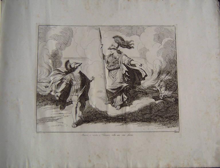 Telemaco e Minerva (stampa, elemento d'insieme) di Pinelli Bartolomeo, Pinelli Bartolomeo (secondo quarto sec. XIX)