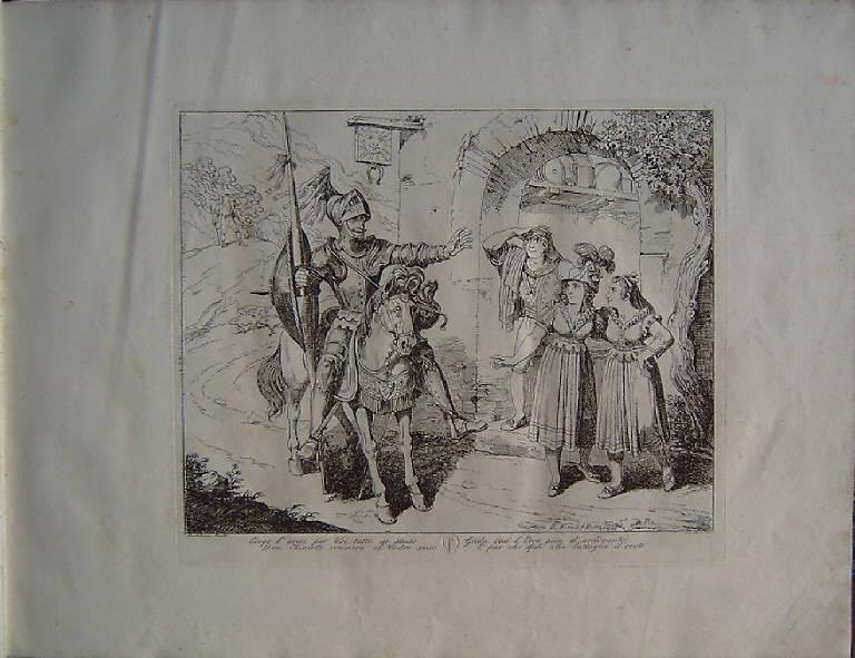 Don Chisciotte (stampa, elemento d'insieme) di Pinelli Bartolomeo, Pinelli Bartolomeo, Pinelli Bartolomeo (secondo quarto sec. XIX)