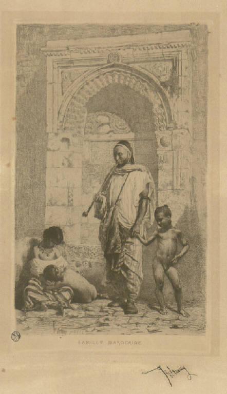 Famiglia marocchina, Famiglia marocchina (stampa) di Fortuny y Marsal Mariano (sec. XIX)