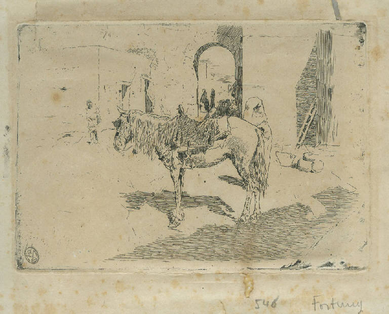 Cavallo marrocchino, Cavallo (stampa) di Fortuny y Marsal Mariano (sec. XIX)