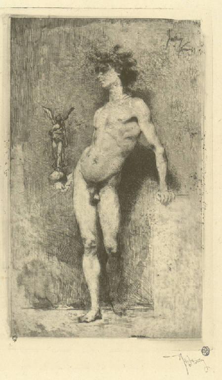 La vittoria, Allegoria della Vittoria (stampa) di Fortuny y Marsal Mariano (sec. XIX)