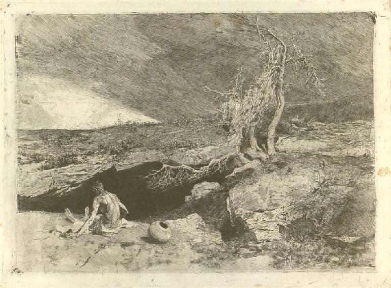 Anacoreta, Anacoreta (stampa) di Fortuny y Marsal Mariano (sec. XIX)