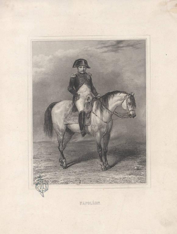 Napoleone a cavallo (Stampa) di Vernet Horace (sec. XIX)