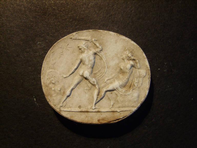 Perseo uccide Medusa (calco, opera isolata) - ambito italiano (prima metà sec. XIX)