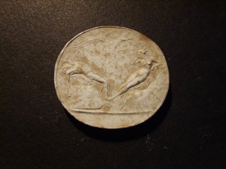 Ninfa ed altro personaggio mitologico (calco, opera isolata) - ambito italiano (prima metà sec. XIX)