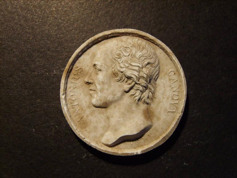 Ritratto di Antonio Canova (calco, opera isolata) - ambito italiano (prima metà sec. XIX)