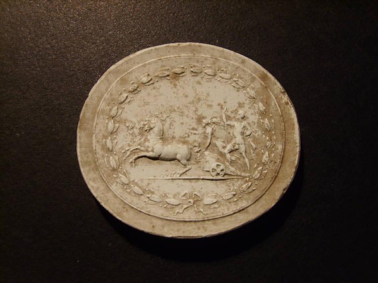 Quadriga di eroi (calco, opera isolata) - ambito italiano (prima metà sec. XIX)