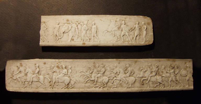 Fregio con corteo di soldati, musici e offerenti (calco, opera isolata) - ambito italiano (prima metà sec. XIX)