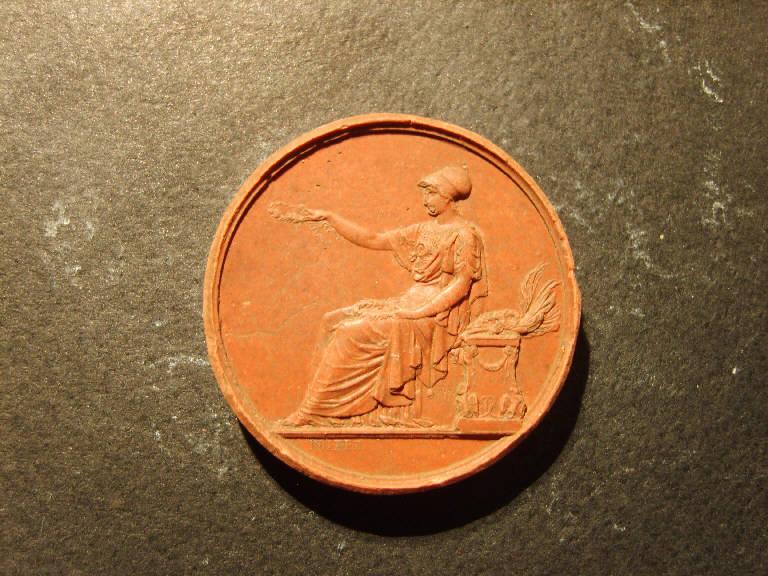 Allegoria della Gloria (calco, opera isolata) - ambito italiano (prima metà sec. XIX)