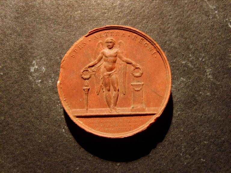 Genio alato con corone (calco, opera isolata) - ambito italiano (prima metà sec. XIX)