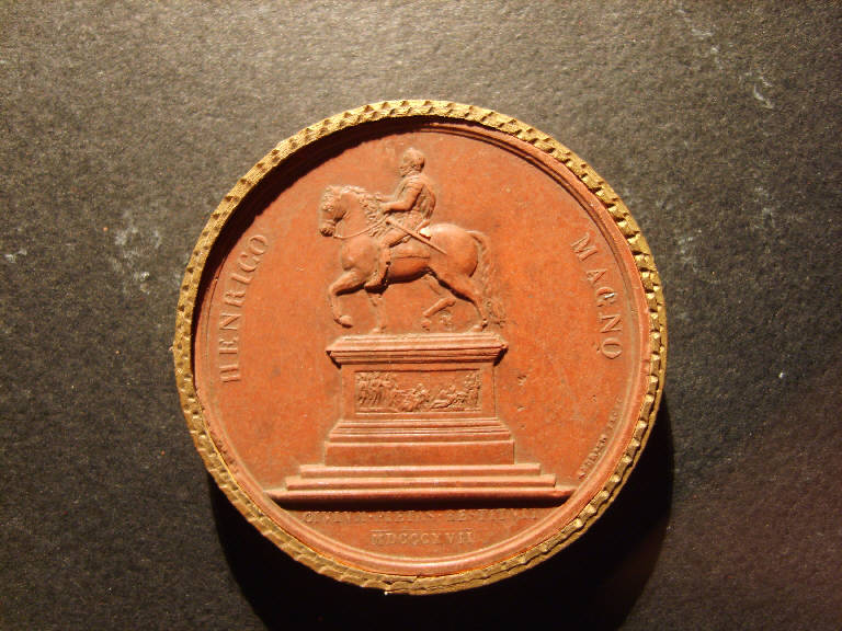 Ritratto equestre di Enrico Magno (calco, opera isolata) - ambito italiano (prima metà sec. XIX)