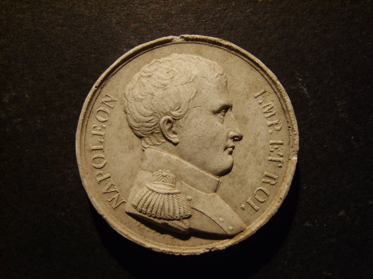 Ritratto di Napoleone Bonaparte (calco, opera isolata) - ambito italiano (prima metà sec. XIX)