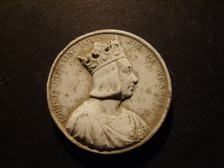 Ritratto di Luigi IX di Francia (calco, opera isolata) - ambito italiano (prima metà sec. XIX)