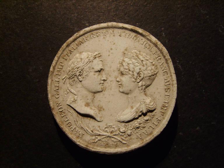 Ritratto di Napoleone Bonaparte e di Maria Ludovica (calco, opera isolata) - ambito italiano (prima metà sec. XIX)