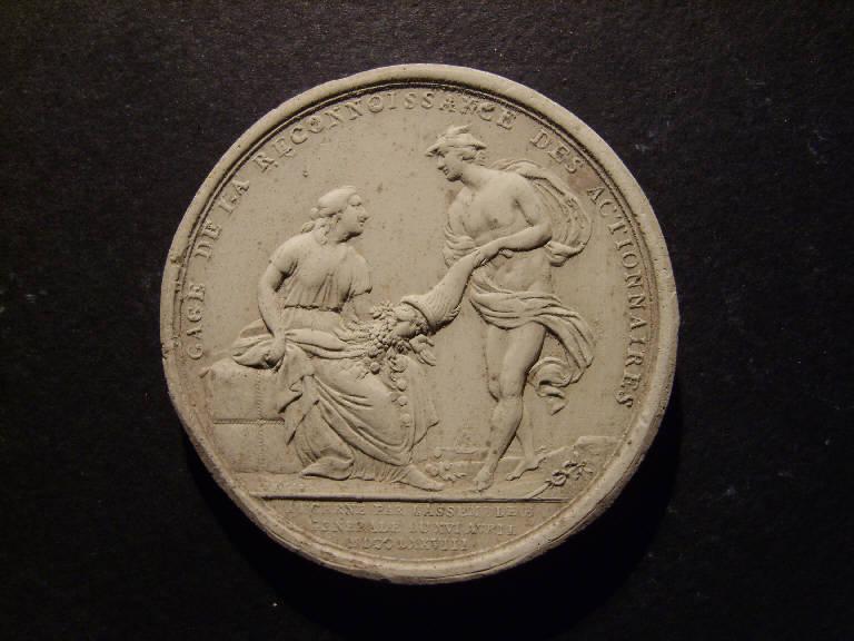 Allegoria con Mercurio (calco, opera isolata) - ambito italiano (prima metà sec. XIX)
