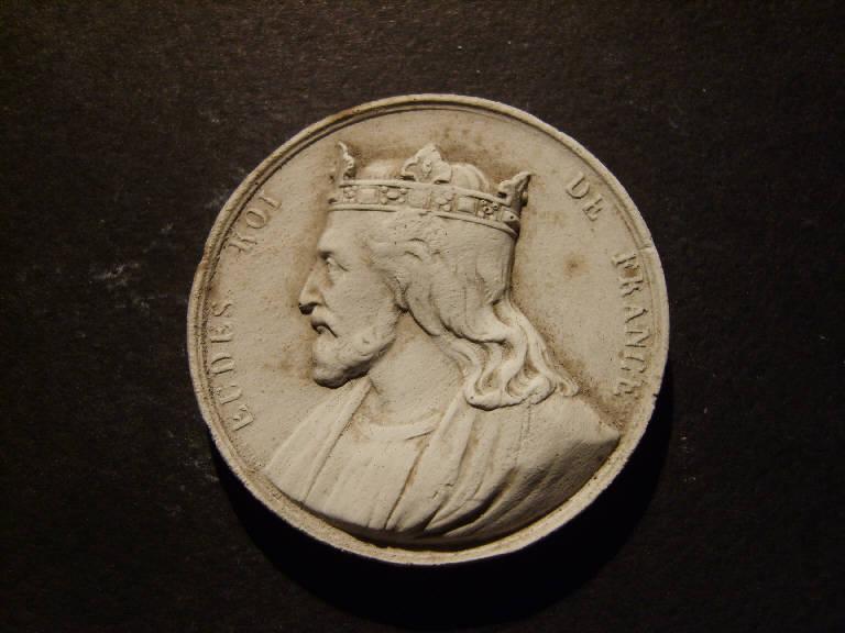 Ritratto di Eude (Odo) re di Francia (calco, opera isolata) - ambito italiano (prima metà sec. XIX)