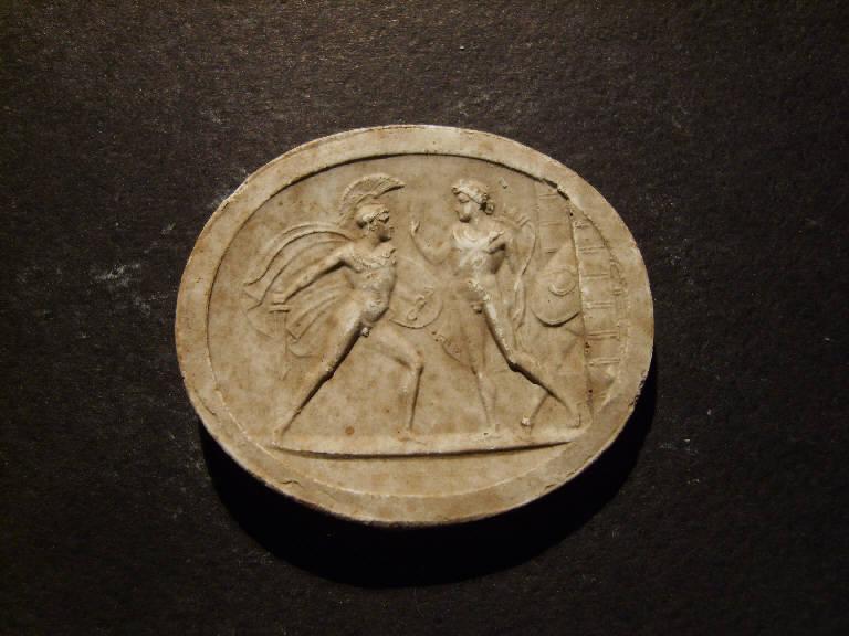 Lottatori greci (calco, opera isolata) - ambito italiano (prima metà sec. XIX)