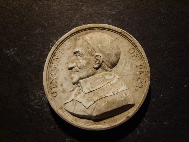 Ritratto di Vincenzo de Paoli (calco, opera isolata) - ambito italiano (prima metà sec. XIX)