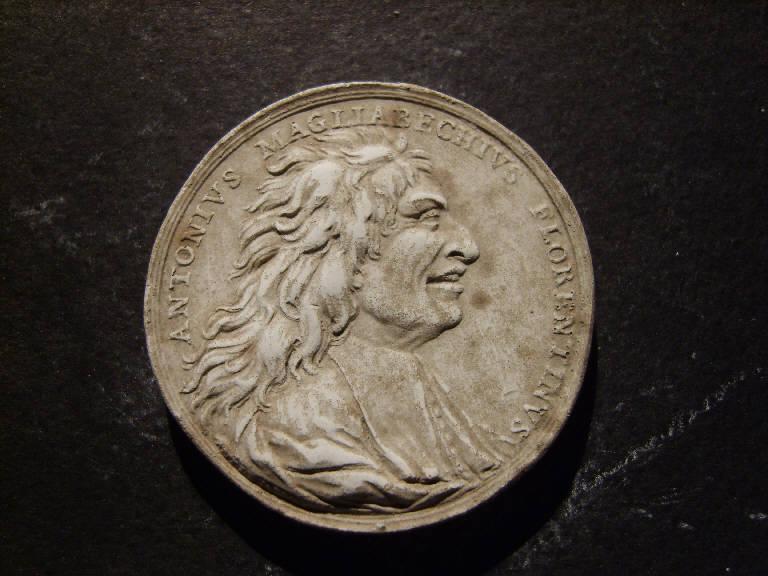 Ritratto di Antonio Magliabecchi (calco, opera isolata) - ambito italiano (prima metà sec. XIX)